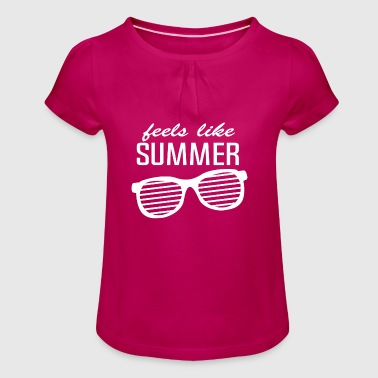 Holiday Holidays Holidays Gift - Girl's T-Shirt with Ruffles