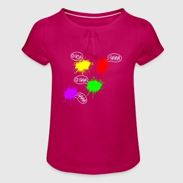 Paintball, Gotcha, Airsoft, Sports - Girl's T-Shirt with Ruffles