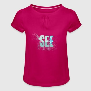 lake - Girl's T-Shirt with Ruffles