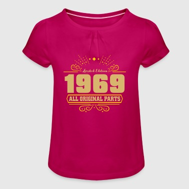 1969 Vintage Birthday Birthday 5 - Girl's T-Shirt with Ruffles