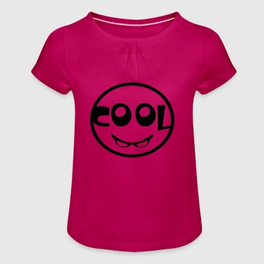 Cool text - Girl's T-Shirt with Ruffles