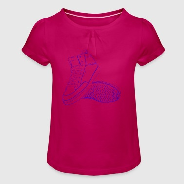 sneaker - Girl's T-Shirt with Ruffles