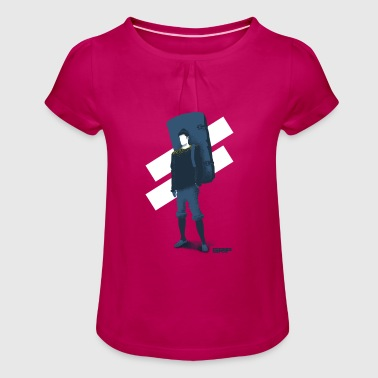 Pad friend - Girl's T-Shirt with Ruffles