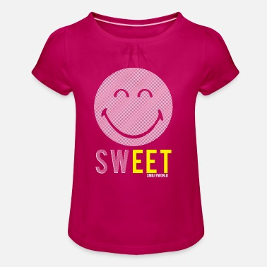SmileyWorld Mignon Sweet - T-shirt à fronces au col Fille
