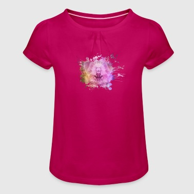 Indian design with colors - Girl's T-Shirt with Ruffles