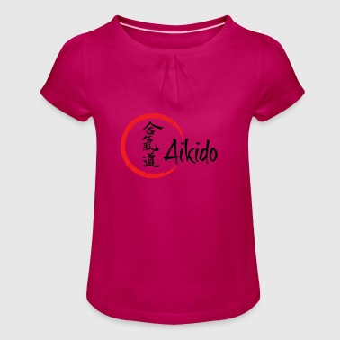 Aikido - Girl's T-Shirt with Ruffles