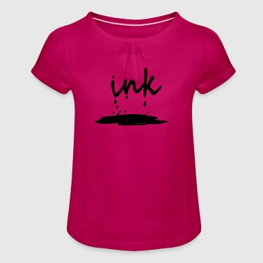 Ink - Girl's T-Shirt with Ruffles