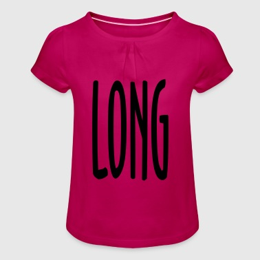 LONG - Girl's T-Shirt with Ruffles