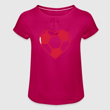 World Championship Football - Girl's T-Shirt with Ruffles