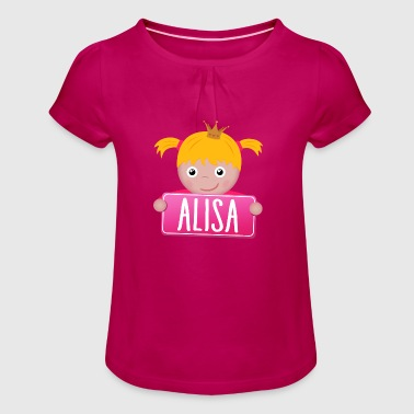Little Princess Alisa - T-shirt à fronces au col Fille