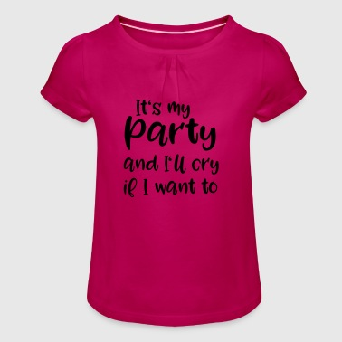 farewell - Girl's T-Shirt with Ruffles
