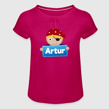 Artur Petit Pirate Artur - T-shirt à fronces au col Fille