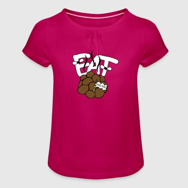 EAT SHIT and DIE! Motive gift idea - Girl's T-Shirt with Ruffles
