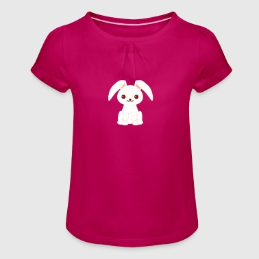 Rabbit Bunny Rabbit Bunny Rabbit - Girl's T-Shirt with Ruffles