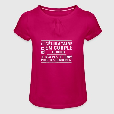 singles in rugby union - Girl's T-Shirt with Ruffles