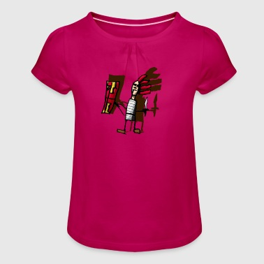 Roman pantone color - Girl's T-Shirt with Ruffles