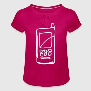 mobile - Girl's T-Shirt with Ruffles