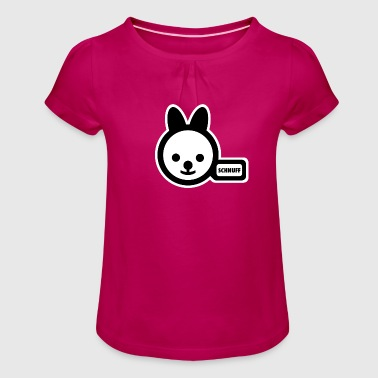 potty-bunny - Girl's T-Shirt with Ruffles