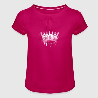 Crown in graffiti style - Girl's T-Shirt with Ruffles