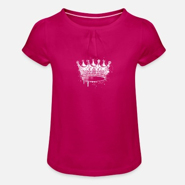 Royal Graffiti Crown in graffiti style - Girl's T-Shirt with Ruffles