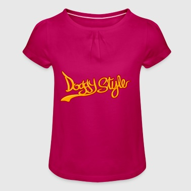 Doggy Style Dog Style - Girl's T-Shirt with Ruffles
