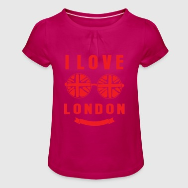 London - Girl's T-Shirt with Ruffles