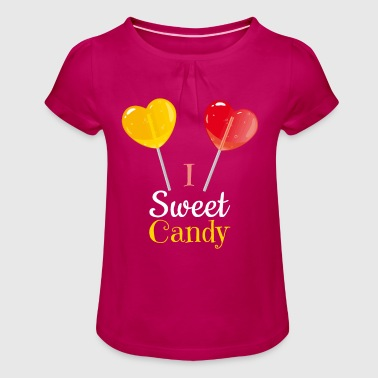 Sweet candy - Girl's T-Shirt with Ruffles