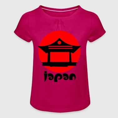 JAPAN japanese japanese asia asians gift idea - Girl's T-Shirt with Ruffles