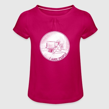 Gaming Gamer Shirt Playing Computer PC Gift - Girl's T-Shirt with Ruffles