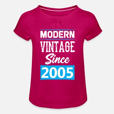 Since 2005 Modern Vintage since 2005 - Girl's T-Shirt with Ruffles