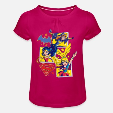 Batgirl DC Super Hero Girls Batgirl Wonder Woman Supergirl - T-shirt med rynkning flicka