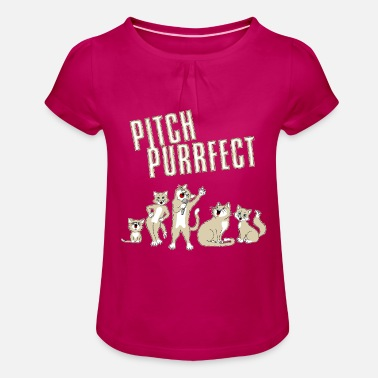 Cat Pitch Purrfect - Girls' Ruffle T-Shirt