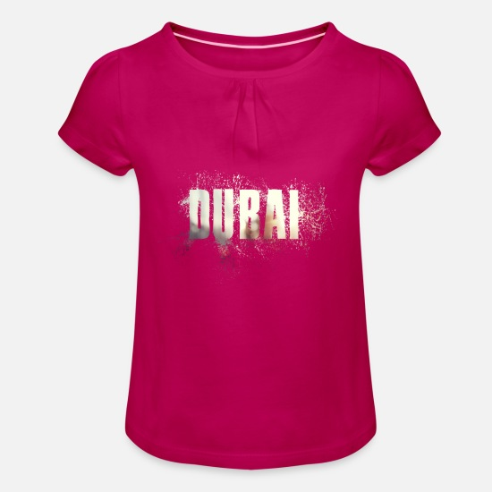 Gift Idea T-Shirts - Dubai - Girls' Ruffle T-Shirt fuchsia