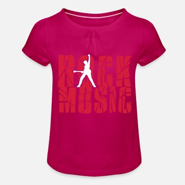 Rock Music rock music - Girls' Ruffle T-Shirt