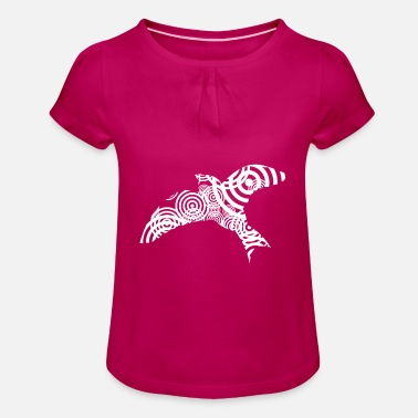 Filigree Dove filigree - Girls' Ruffle T-Shirt