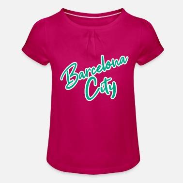 Barcelona Barcelona - Camiseta con drapeado niña 4997b0e264d