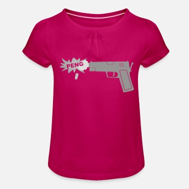 Peng Weapon - Peng - Girls' Ruffle T-Shirt