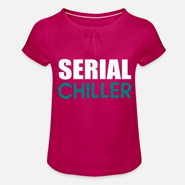Serial serial chiller - Girls' Ruffle T-Shirt