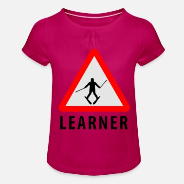 Learner Ski Learner - Girls' Ruffle T-Shirt
