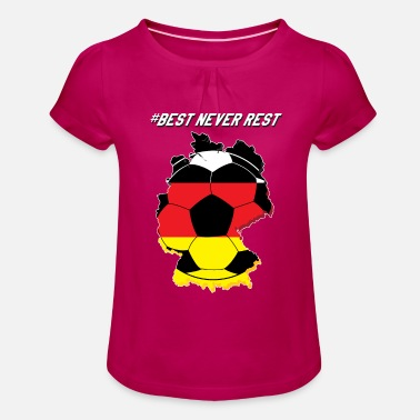 Fanshirt Fanshirt, Germany - Girls' Ruffle T-Shirt