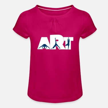 Yoga is an art of balance, mind and body - Girls' Ruffle T-Shirt