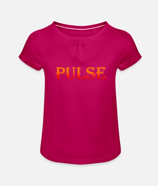 Sinn T-Shirts - Pulse Pulse Pulse of time - Girls' Ruffle T-Shirt fuchsia