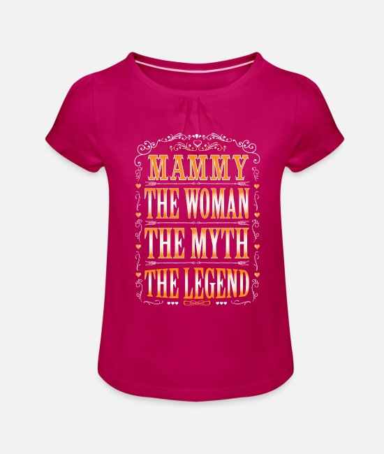 Coolest Mammy Ever T-Shirts - Mammy The Legend... - Girls' Ruffle T-Shirt fuchsia