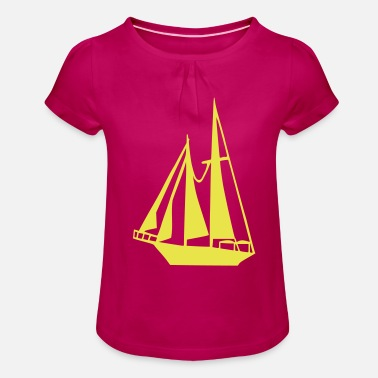 Sail Boat Sailing Boat - Girls' Ruffle T-Shirt