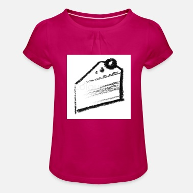 cake - Girls' Ruffle T-Shirt