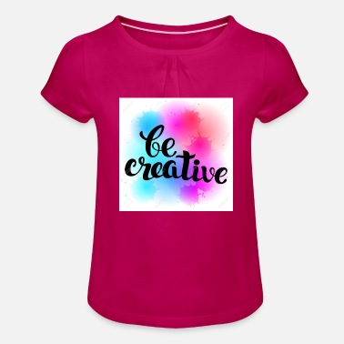 BE CREATIVE - Girls' Ruffle T-Shirt