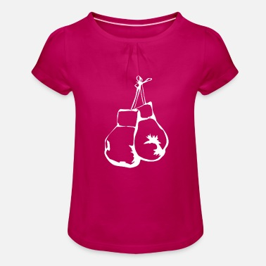Boxing Gloves Boxing gloves boxing glove - Girls' Ruffle T-Shirt
