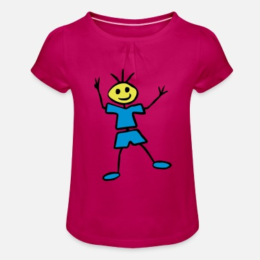 Stick Figure Stick figure - Girls' Ruffle T-Shirt