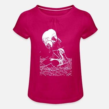 Stork stork - Girls' Ruffle T-Shirt