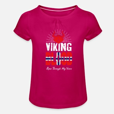 Norway Norway Norway - Girls' Ruffle T-Shirt